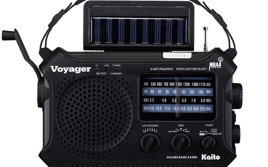 Battery-powered and/or solar-powered radios (2)